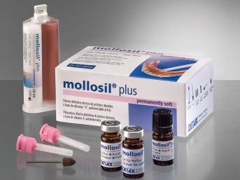 Mollosil Long-Term Relining A-Silicone Material Kit Supply by Detax